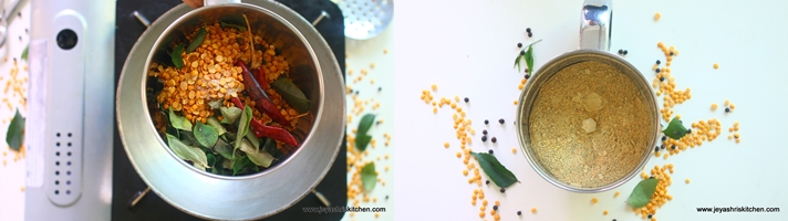 Curry leaves paruppu podi