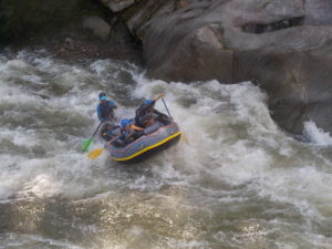Whitewater rafting on the Cangrejal River