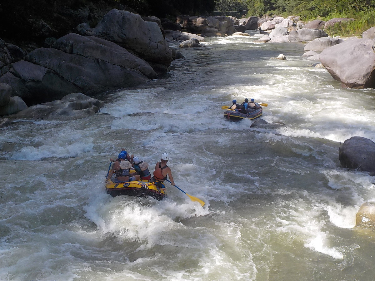 The Cangrejal River is a fun place to do whitewater rafting!