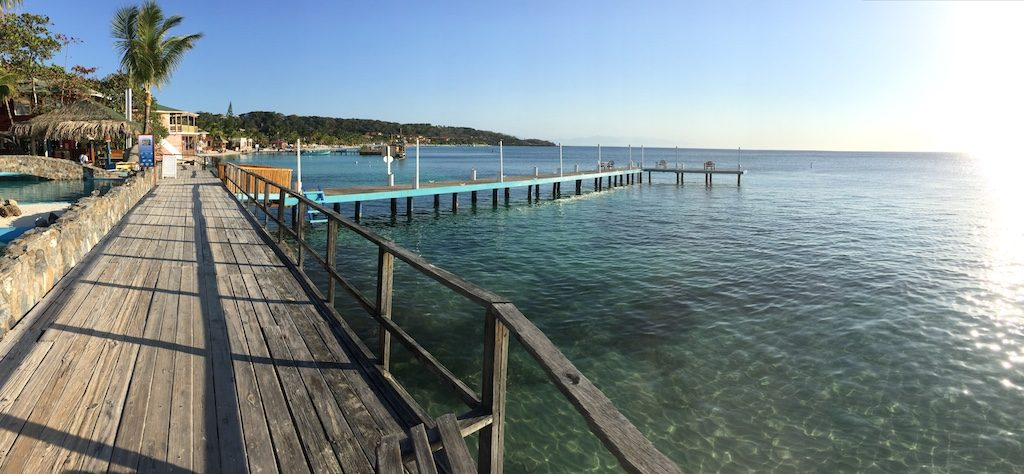 Waling towards West Bay is such a great way to experience this area of Roatan.