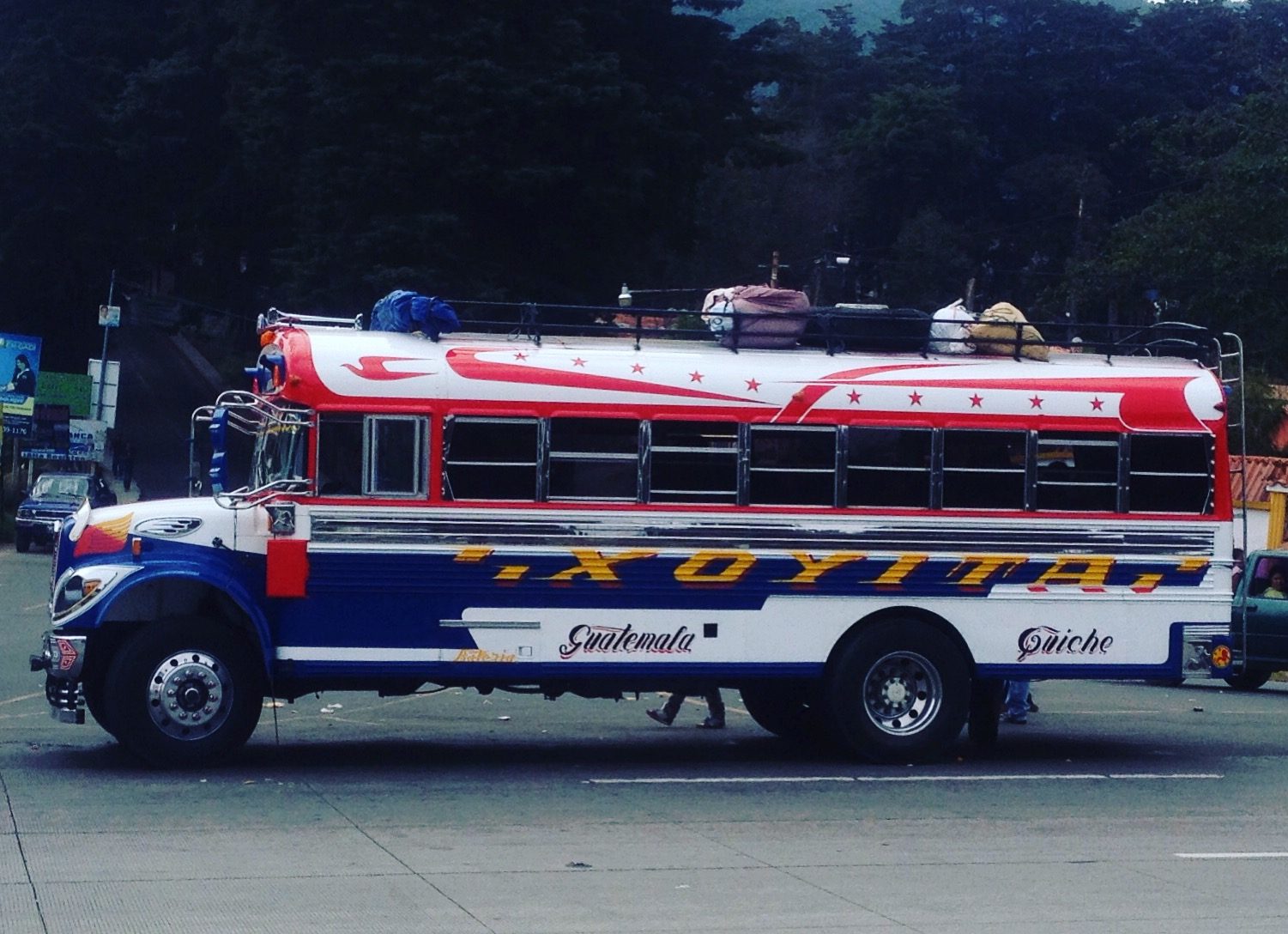 Buses in Guatemala are donated from the US