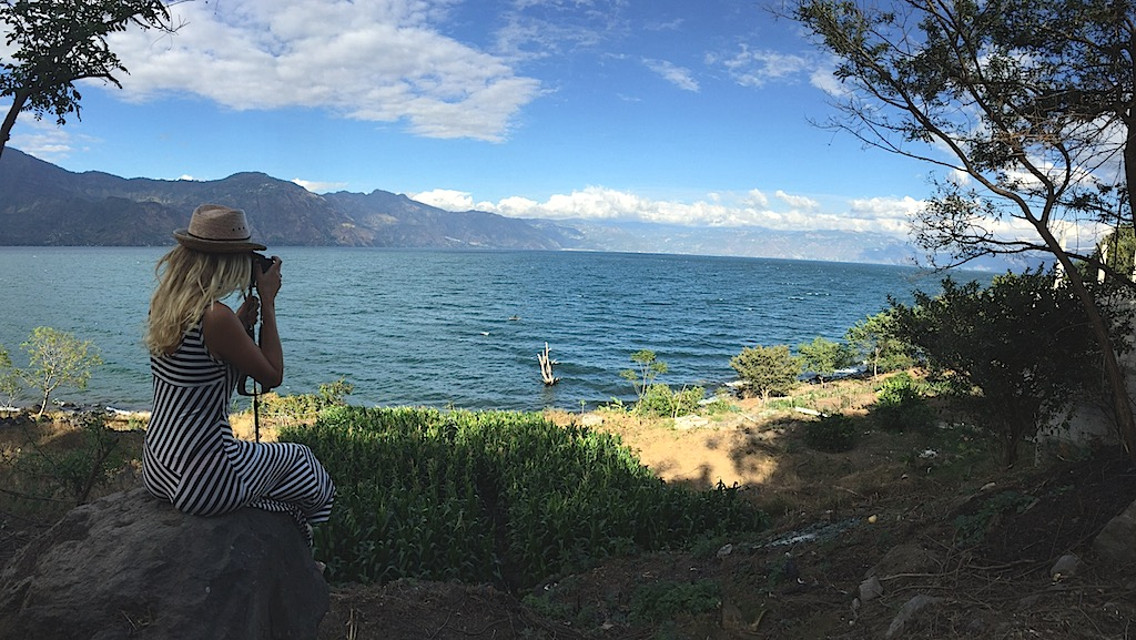 Capturing the moment of a clear view at Lake Atitlan