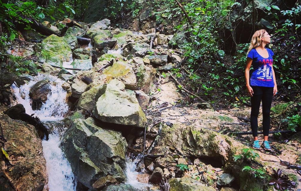 Beautiful water scenes in Pico Bonito National Park
