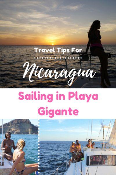 Sailing in Playa Gigante
