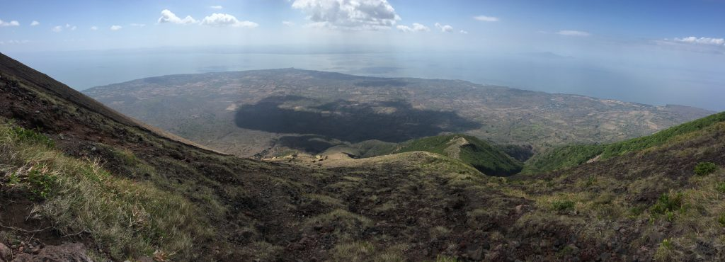 Hike up towards the top of Volcano Concepcion