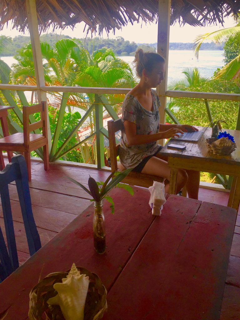 Working in cafes or at the beach has become my daily routine.