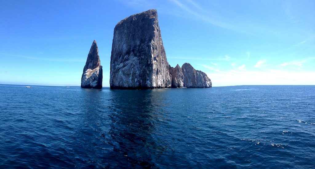 Kicker Rock where you might find Hammerhead Sharks!