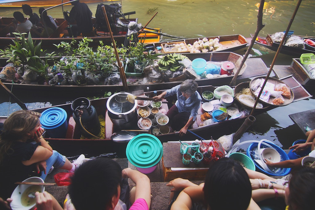 Floating markets - a big highlight when visiting Bangkok!