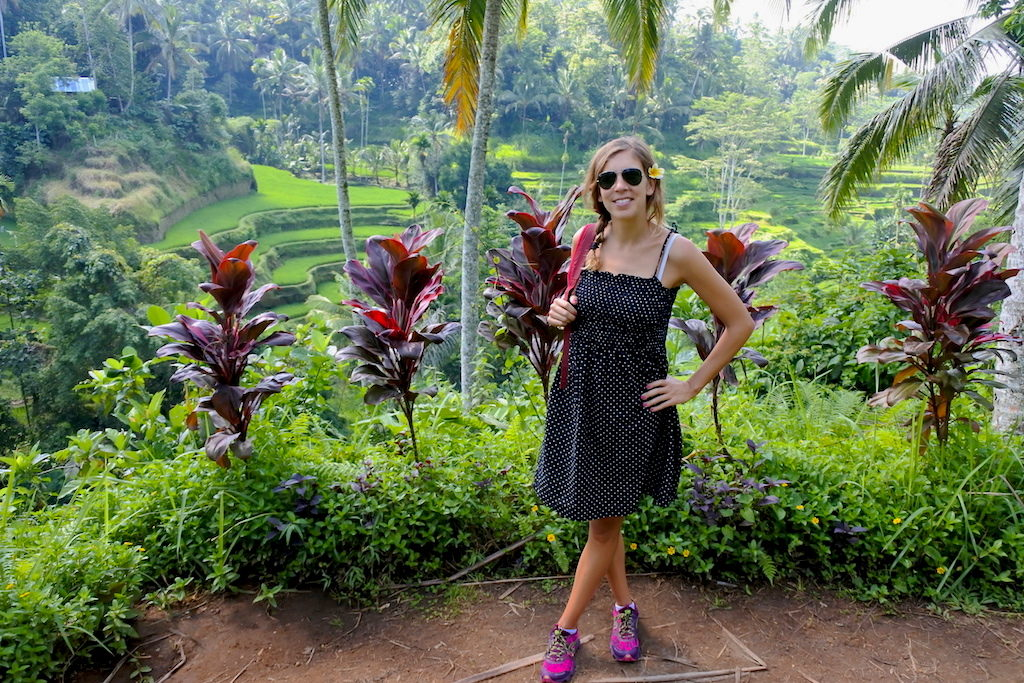 Exploring the rice terraces around Ubud