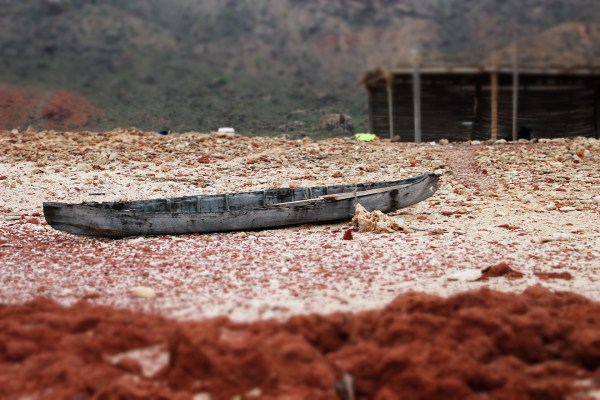 Boat on Socotra Island