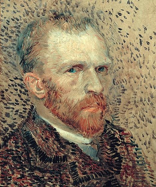 JEZT - Rainer Sauer - 17 Tage Europa - Vincent van Gogh - self portrait 1887 - Selbstportrait von 1887