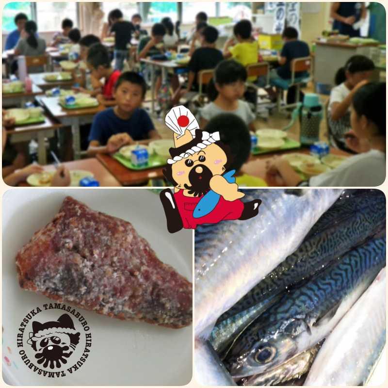 学校給食で平塚のサバをイメージ画像