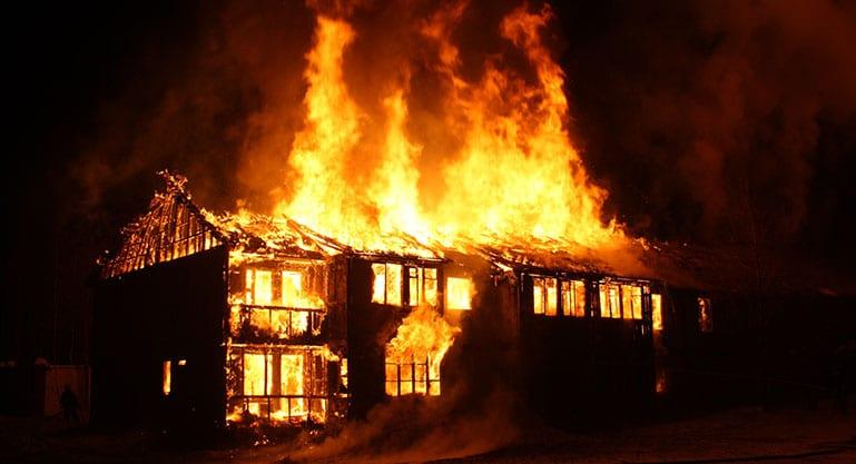Building burning