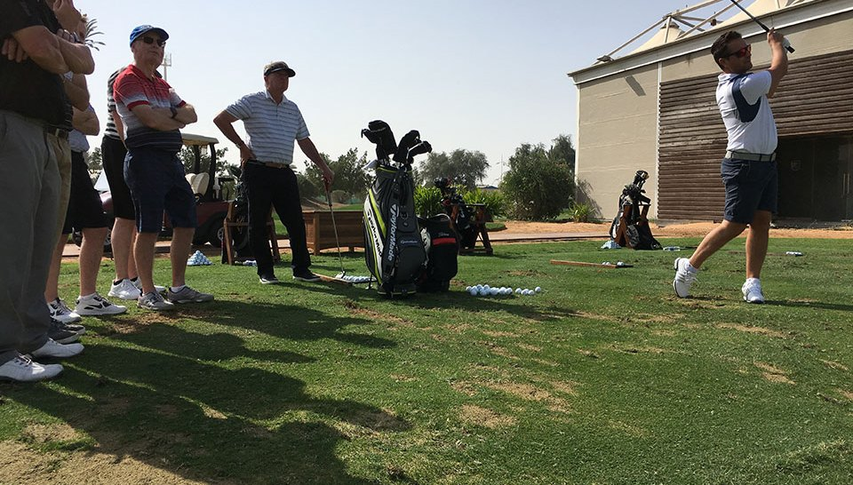 UAE golf schools - Steve Webster clinic Els Club