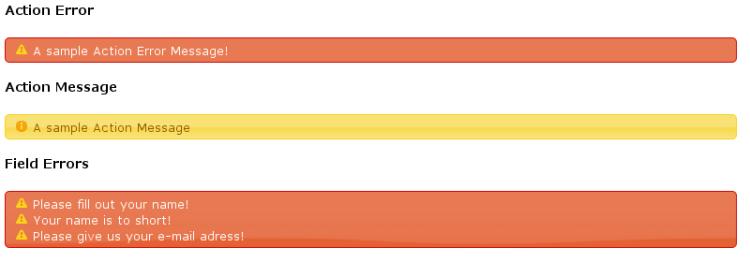 Struts2 jQuery Plugin - Action Messages