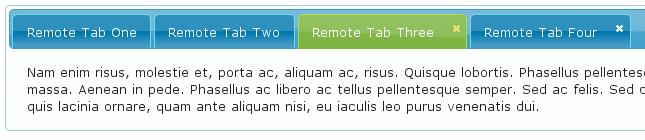 Struts2 jQuery Plugin - Tabbed Panel - Sortable - Closeable