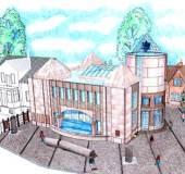 meine praktikumsgemeinde - entwurf der neuen synagoge