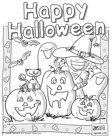 coloring halloween pages # 34