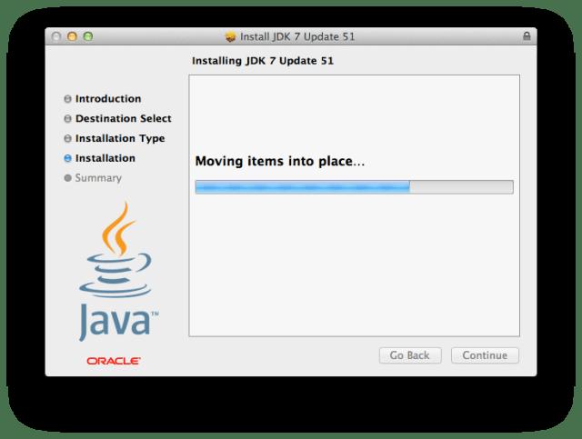 JDK installation is smooth