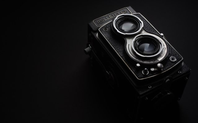 This Rolleiflex requires a physical piece of paper and pencil to store the photo's metadata