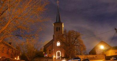 Nos églises, majestueuses, au clair de lune