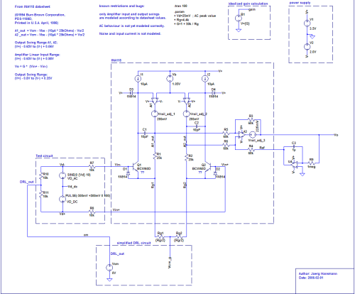 small resolution of supply voltage operating point and gain is exceeded the amplifier is clipping the signal and works no more linear as required in eeg applications