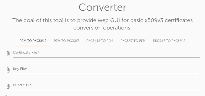 Convert SSL Certificate Individual Files To A PFX File