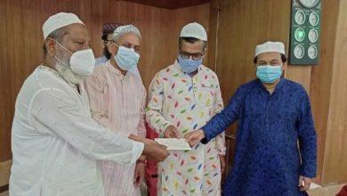 Photo of ঝিনাইদহে মসজিদ নির্মাণে জাহেদী ফাউন্ডেশনের দশ লক্ষ টাকার চেক প্রদান