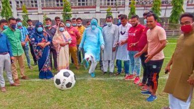 Photo of শৈলকুপায় বঙ্গবন্ধু গোল্ডকাপ ফুটবল টুর্নামেন্ট উদ্বোধন