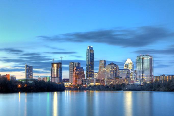 Image of Austin Skyline taken for The Austonian building