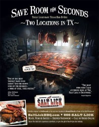 Salt Lick Advertisement in Dec. '09 Texas Monthly