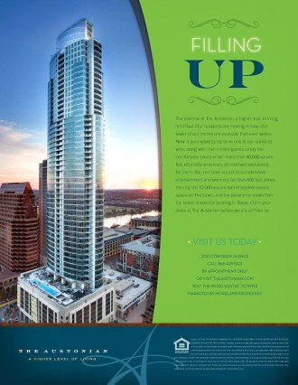 Austonian ad in Texas Monthly