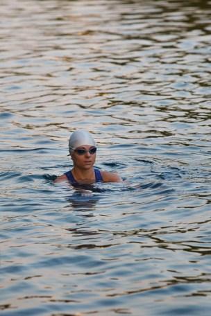 swimming triathlete