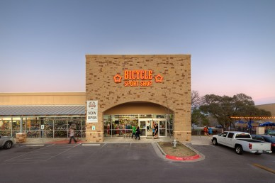 Exterior photography of the Bicycle Sport Shop, Parmer store