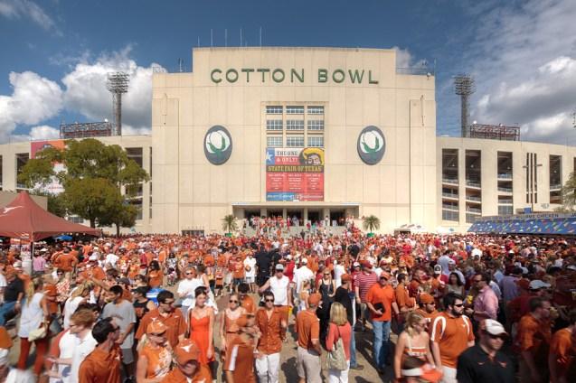 UT vs OU Cotton Bowl