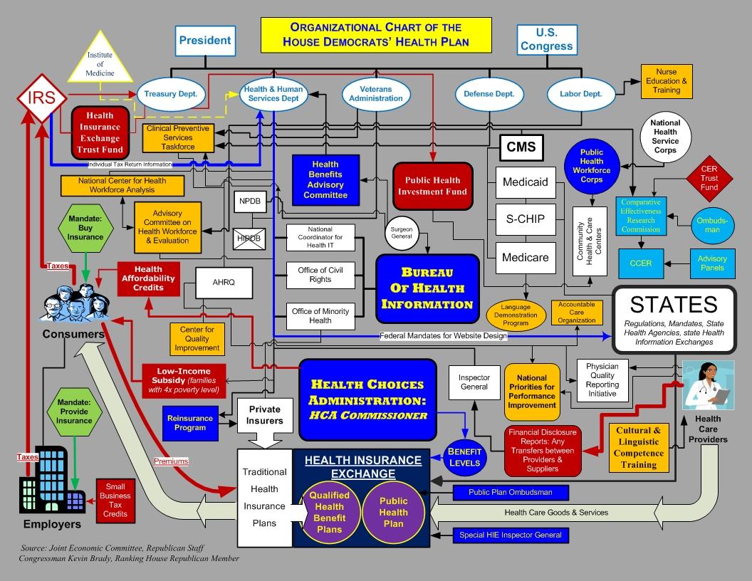 hight resolution of health plan org chart