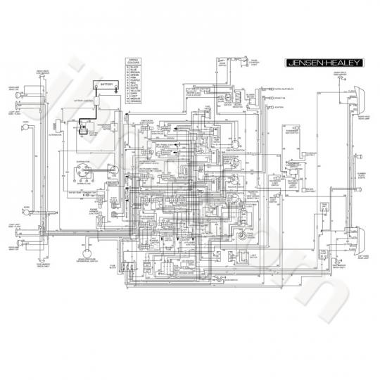 jensen healey wiring diagram