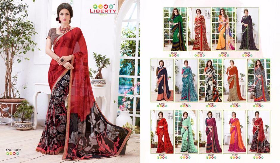 Liberty Akiraa-2 saree catalog