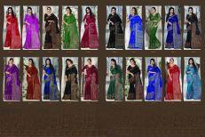 Apple Madhubani 3 Khadi Silk printed Saree Catalog