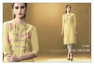 Eternal Glint art silk based Kurtis Catalog