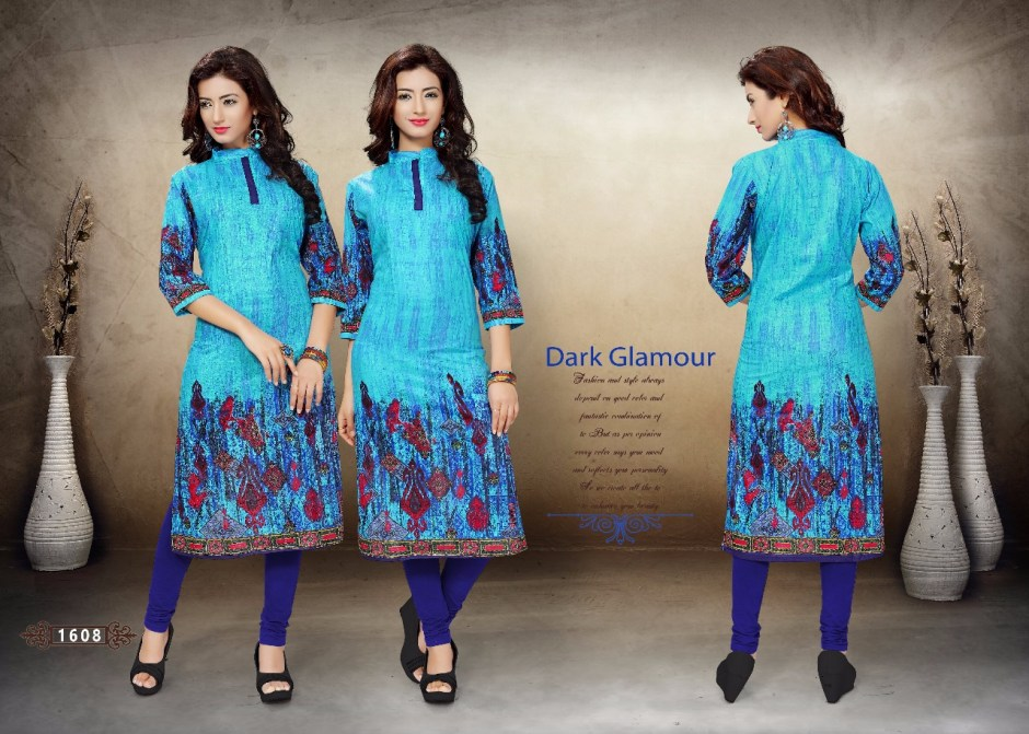 Koiki holiday cotton printed partywear kurties collection at wholesale rate surat