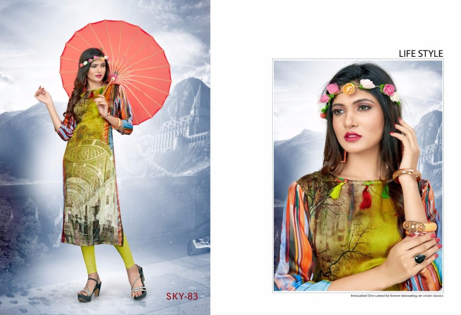 Swarnapankh sky 8 Kurties collection wholesale price supplier