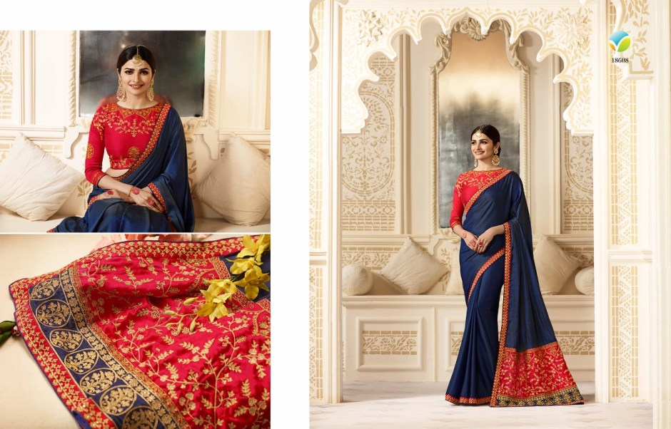 Vinay fashion llp starwalk sparkle collection of silk sarees at wholesale rate seller