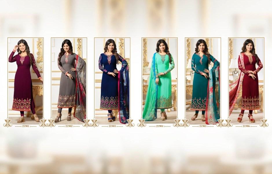 Fiona ayesha takiya vol 23 printed salwar kameez collection