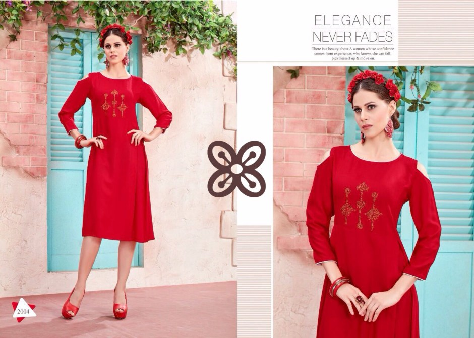 Gaabha tulip full stitched kurtis catalogue online seller