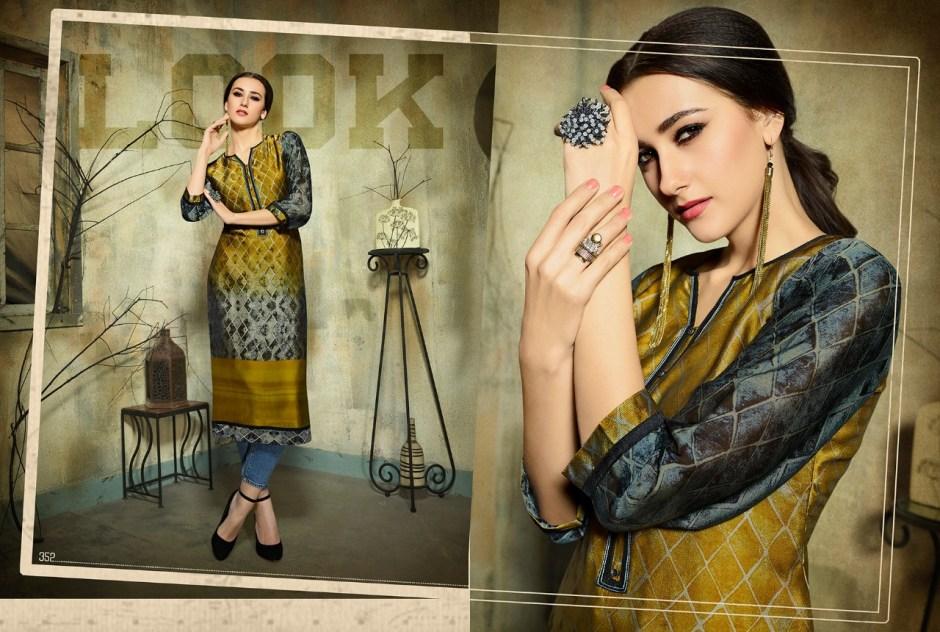 Kajree fashion dark fantasy vol 5 printed stylish kurtis catalog