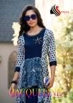Sawan textile jacqueline volume 2 rayon kurties with jacket collection