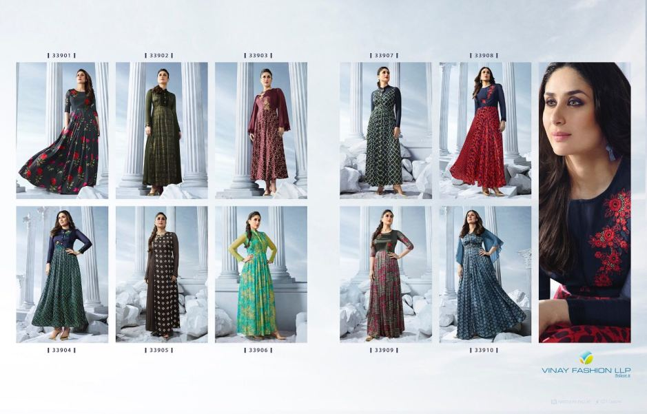 Vinay fashion tumbaa bebo vol 2 long kurtis catalog