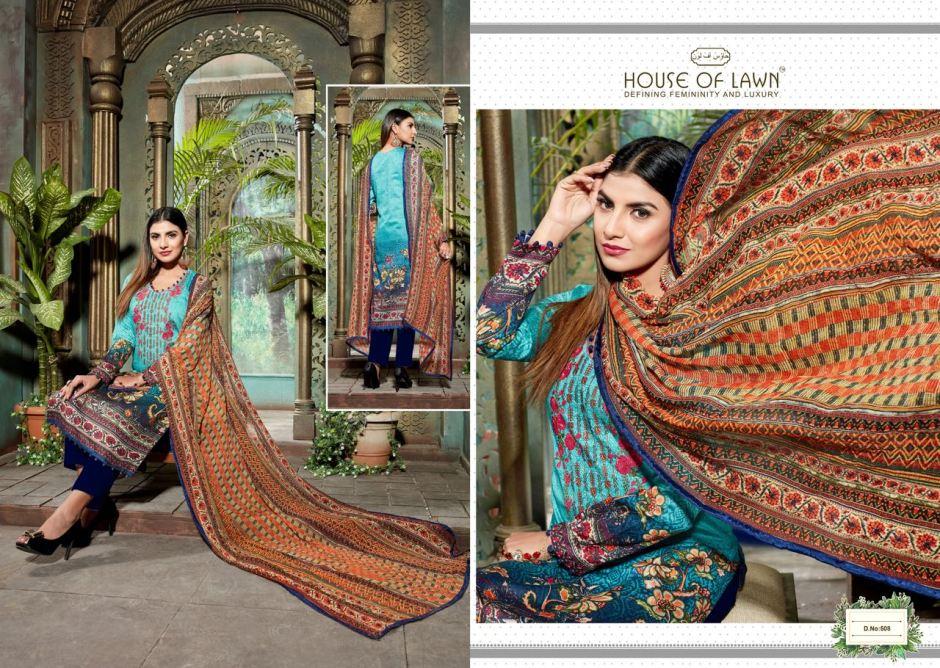 House of lawn muslin vol 5 jam silk karachi suits cotton dupatta collection