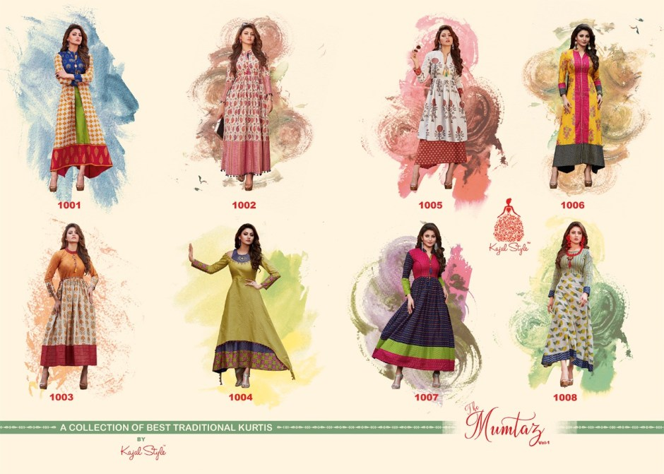 kajal style mumtaz vol 1 long gown type kurties catalog